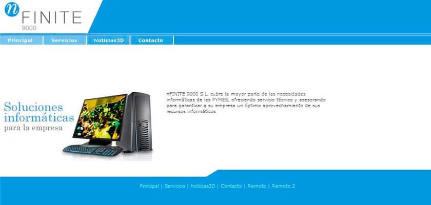 captura web antigua